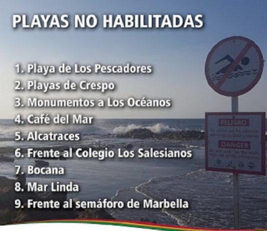 Playas restringidas Cartagena