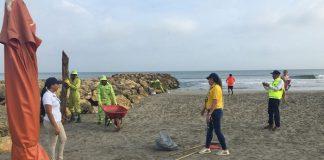 Exitosa jornada de limpieza en playas de Bocagrande
