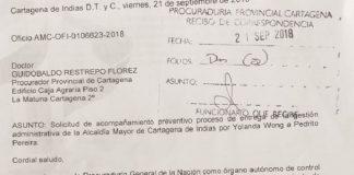 Carta a ala procuraduria