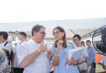 Louis Kleyn y Ángela María Orozco durante el taller construyendo país realizaron el anuncio