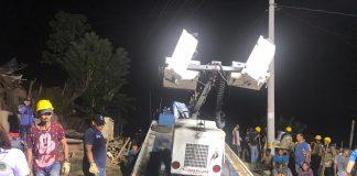 Evacuación de familias en sector albornoz