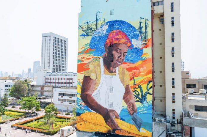 Graffiti mas grande de colombia -goya