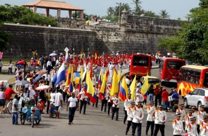 Desfile-20-de-julio-Cartagena-de-indias