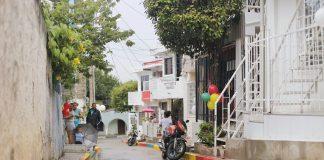 barrio la victoria pavimentado