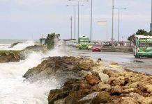 Marea alta en Cartagena